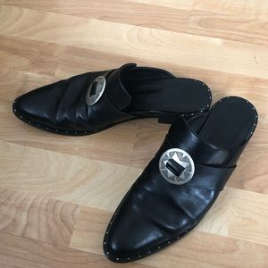 Freda Salvador Black KEEN Mule With bolo size 11